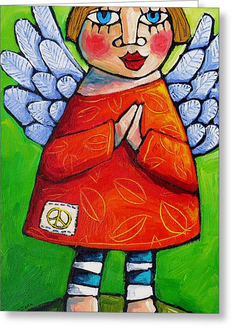 Sell Art Online Greeting Cards - Angel  Of  Gratitude Greeting Card by Sara Catena