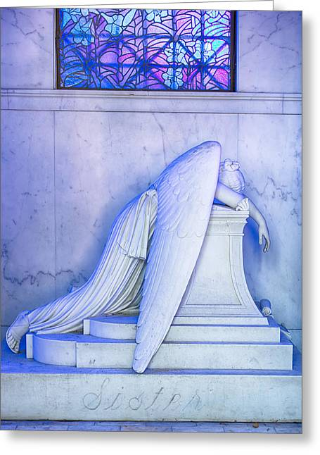 Angel Of Grief New Orleans 2 Greeting Card by Gregory Cox
