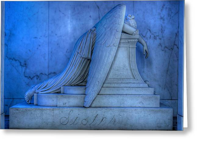Angel Of Grief New Orleans 5 Greeting Card by Gregory Cox