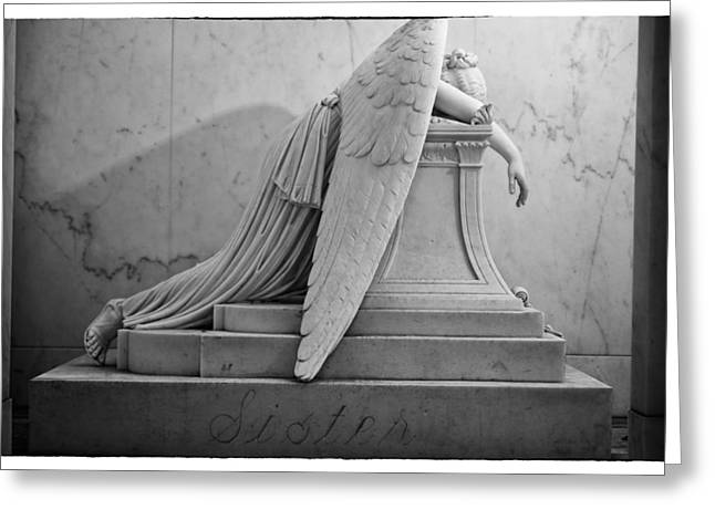 Angel Of Grief New Orleans 6 Greeting Card by Gregory Cox