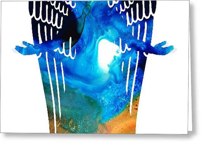 Angel of Light - Spiritual Art Painting Greeting Card by Sharon Cummings