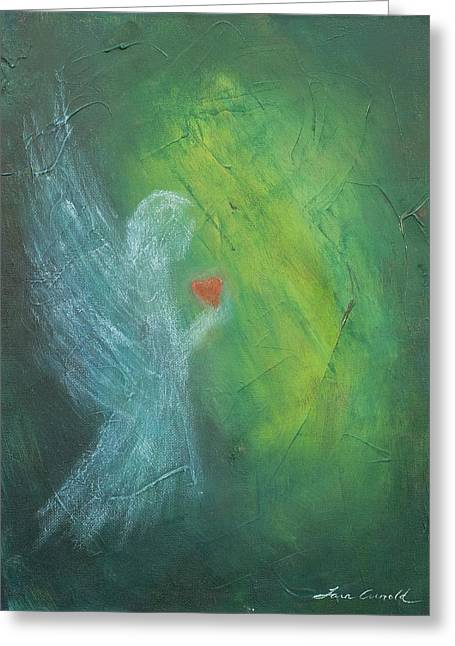 Divine Pastels Greeting Cards - Angel of Love Greeting Card by Tara Arnold