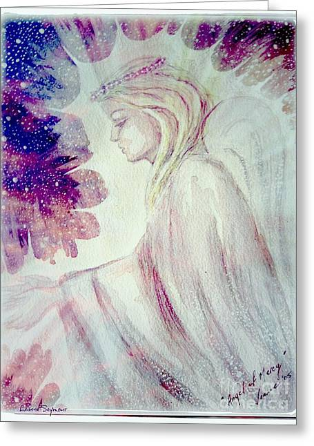 Forgiveness Mixed Media Greeting Cards - Angel of Mercy 2 Greeting Card by Leanne Seymour
