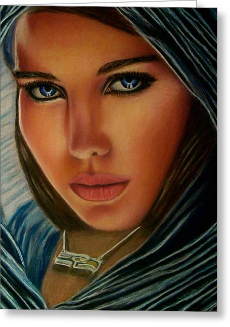 Angel Blues Pastels Greeting Cards - Angel of Mercy Greeting Card by D Rogale