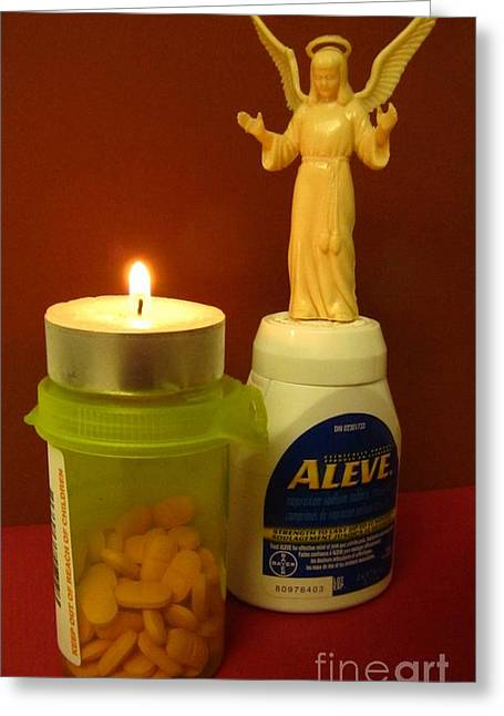 Medication Greeting Cards - Angel of Mercy Greeting Card by John Malone