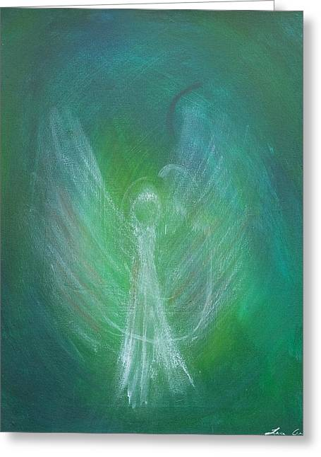 Angel Blues Pastels Greeting Cards - Angel Of Mine Greeting Card by Tara Arnold