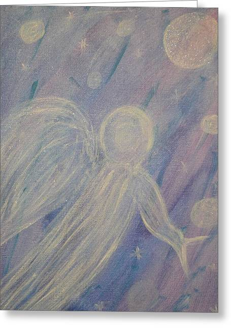 Kindred Spirits Greeting Cards - Angel of Orbs Greeting Card by Crystal Starshine