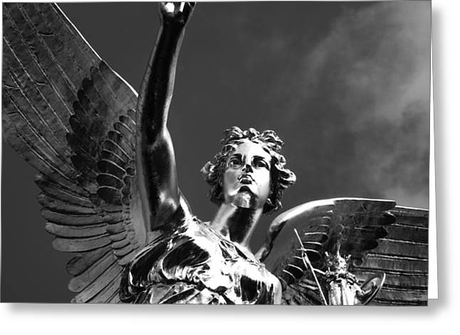 Angel Of Peace Greeting Card by Marc Huebner