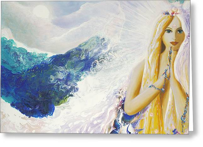 Angel Of Peace Greeting Card by Valerie Graniou-Cook