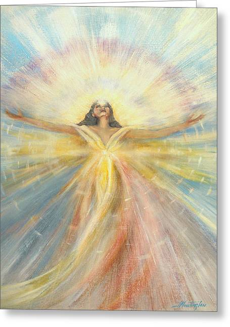 Angel Of Possibilities Greeting Card by Joyce Huntington