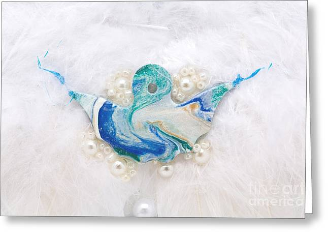 Spiritual Reliefs Greeting Cards - Angel of purity Greeting Card by Heidi Sieber
