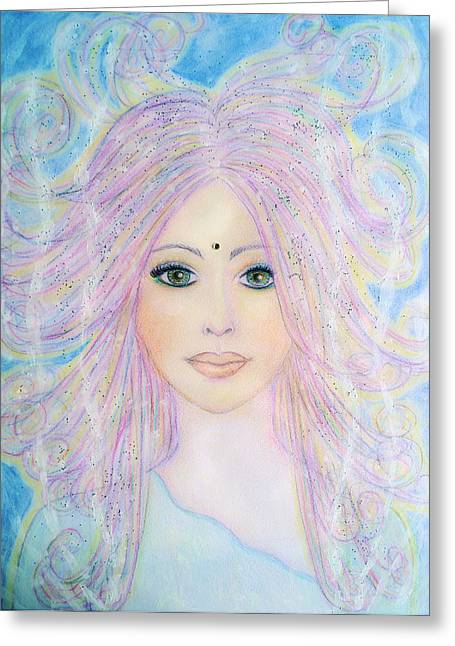 Angel Of Purity Greeting Card by Lila Violet