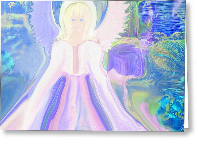 Greeting Cards - Angel Of Serenity Greeting Card by Sherri  Of Palm Springs