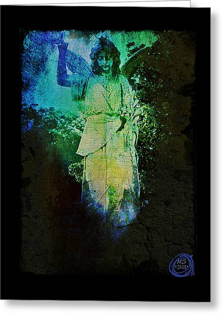 Garden Statuary Greeting Cards - Angel of the Forest Greeting Card by Absinthe Art By Michelle LeAnn Scott