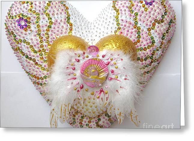Spiritual Art Reliefs Greeting Cards - Angel of the new morning  Greeting Card by Heidi Sieber