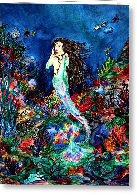 Under The Sea Mermaid Greeting Cards - Angel of the Sea Greeting Card by Kd Neeley