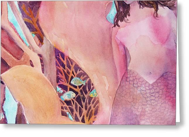 Angel of the Sea Greeting Card by Teri  Jones