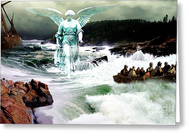 Lianne_schneider Greeting Cards - Angel of the Storm  Greeting Card by Lianne Schneider