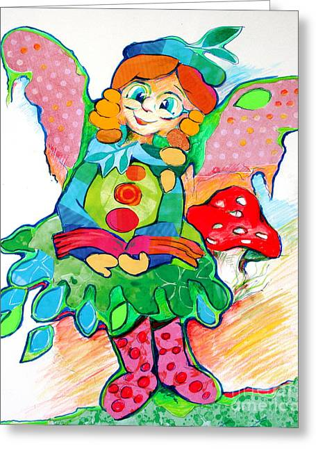 Appreciation Of Art Greeting Cards - Angel of Wisdom Greeting Card by Joanna Kacprzynska