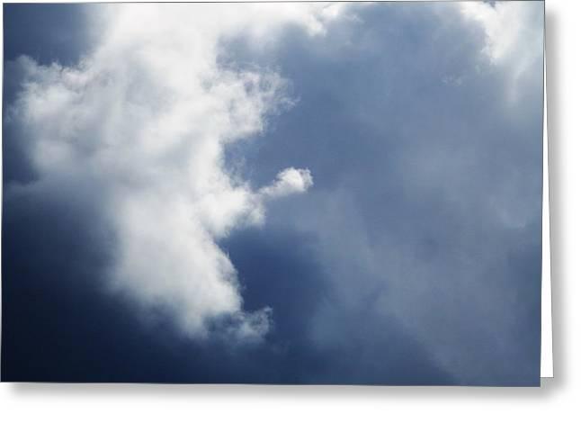 Cloud Angel Kneeling In Prayer Greeting Card by Belinda Lee
