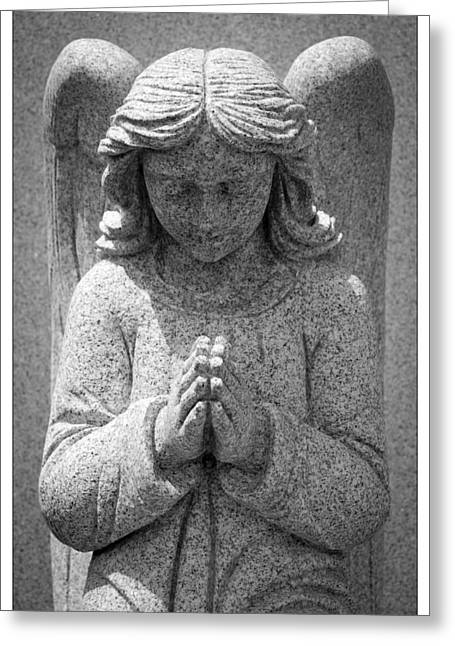 Praying Hands Greeting Cards - Angel Praying Greeting Card by Crystal Wightman