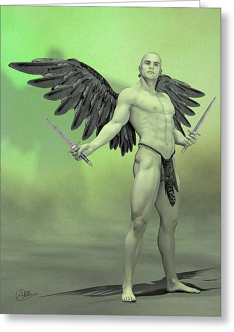 Archangel Drawings Greeting Cards - Angel Ripper By Quim Abella Greeting Card by Joaquin Abella