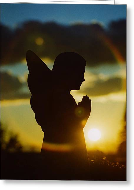 Angel Silhouette Greeting Card by Gothicolors Donna
