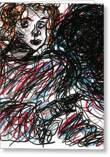 Ma.. Drawings Greeting Cards - Angel Sketch Greeting Card by Rachel Scott