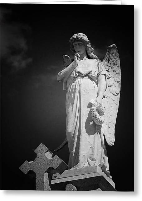 Gravesite Greeting Cards - Angel St Louis Cemetery No 3 New Orleans Greeting Card by Christine Till
