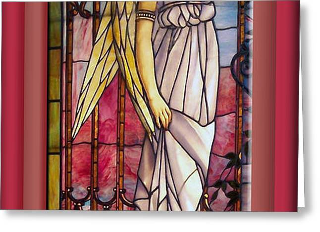 Angel Stained Glass Window Greeting Card by Thomas Woolworth