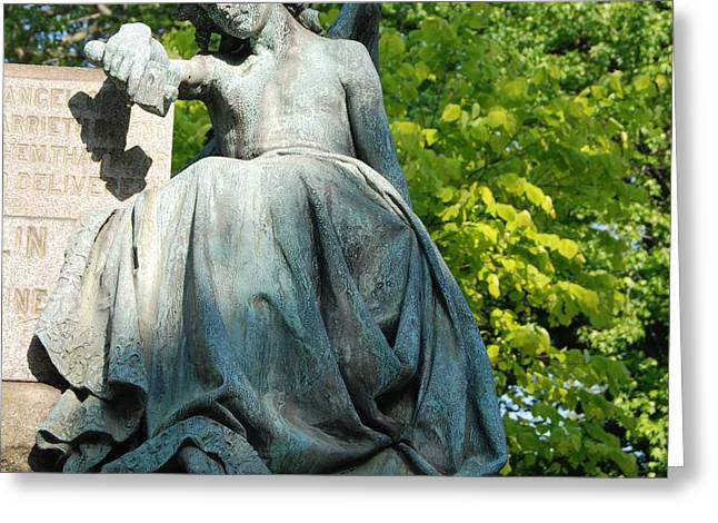 Religious Photographs Greeting Cards - Angel Statue Greeting Card by Philip Ralley