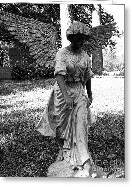 Colorful Landscape Sculptures Greeting Cards - Angel Takes a Walk With Sorrow Greeting Card by Nathan Little