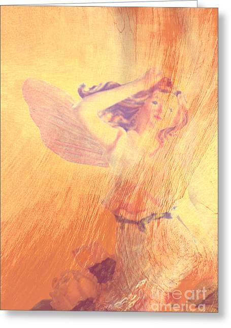 Festivities Greeting Cards - Angel Time  Greeting Card by Susanne Van Hulst
