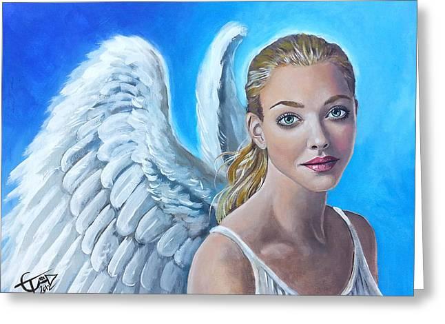 Angel Greeting Card by Tom Carlton