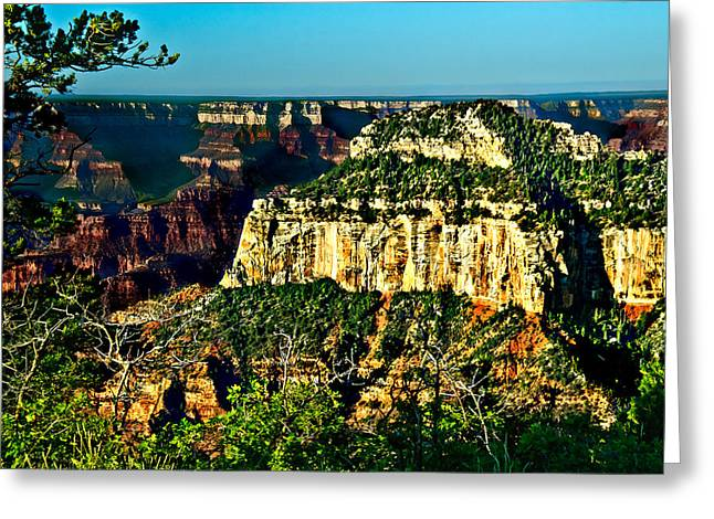 Desertview Greeting Cards - Angel Viewpoint North Rim Grand Canyon Greeting Card by  Bob and Nadine Johnston