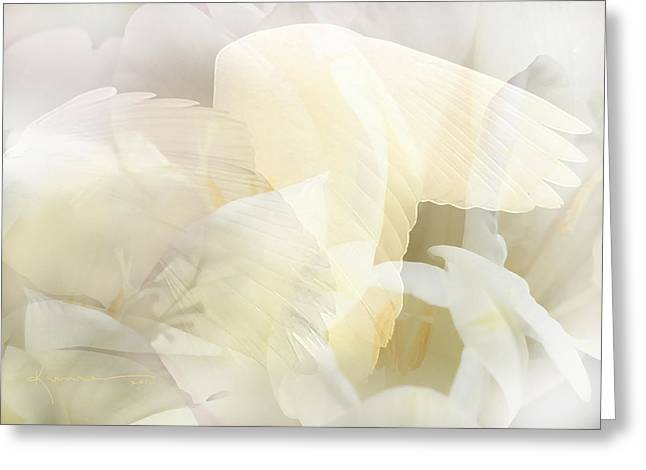 Innocence Greeting Cards - Angel Whisper Greeting Card by Kume Bryant