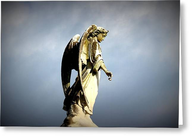 Metairie Cemetery Greeting Cards - Angel Wings Greeting Card by Beth Vincent