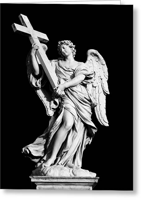 Religious Still Life Greeting Cards - Angel with the Cross Greeting Card by Fabrizio Troiani