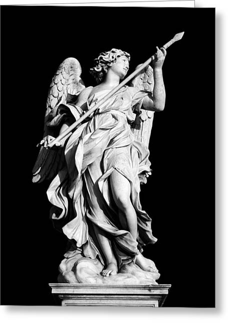 Religious Still Life Greeting Cards - Angel with the Lance Greeting Card by Fabrizio Troiani