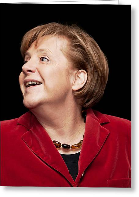 Angela Greeting Cards - Angela Merkel Chancellor of Germany Greeting Card by Mountain Dreams