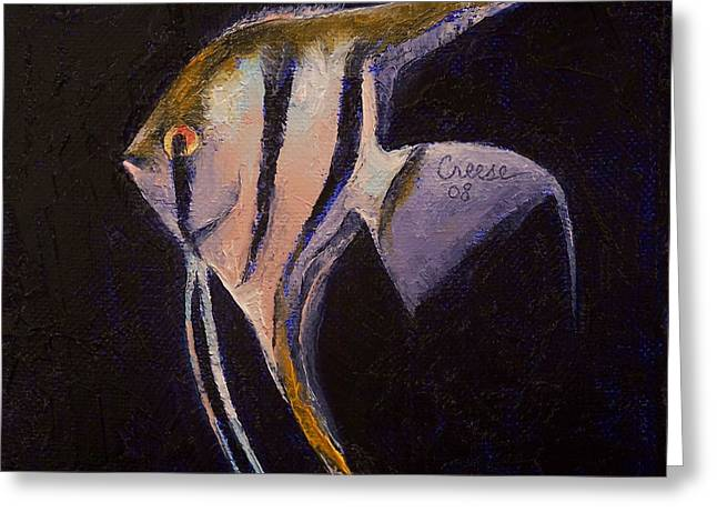 Pez Greeting Cards - Angelfish Greeting Card by Michael Creese