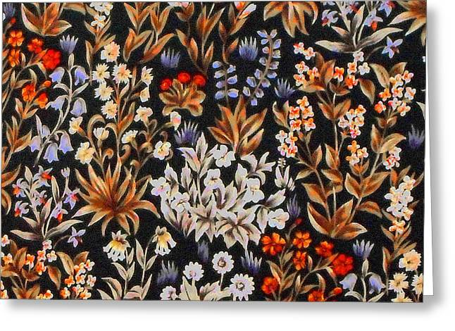 Tapestries - Textiles Greeting Cards - angeli Laudante Greeting Card by William Morris