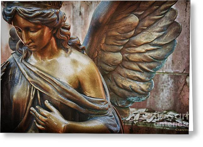 Staging Greeting Cards - Angelic Contemplation Greeting Card by Terry Rowe