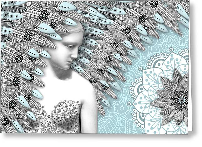 Had Greeting Cards - Angelica Hiberna - Angel of Winter Greeting Card by Christopher Beikmann