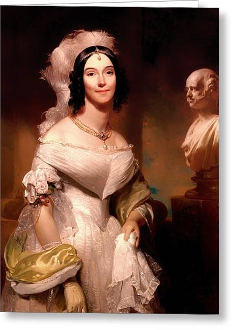 First Lady Paintings Greeting Cards - Angelica Van Buren Greeting Card by Henry Inman