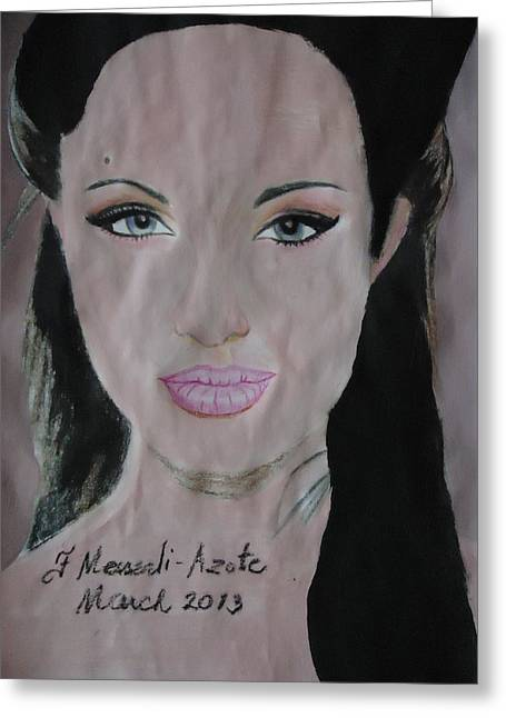 Angelina Greeting Card by Fladelita Messerli-