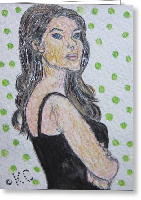 Angelina Jolie Greeting Card by Kathy Marrs Chandler