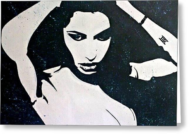 Sex Drawings Greeting Cards - Angelina Greeting Card by Nina Giordano