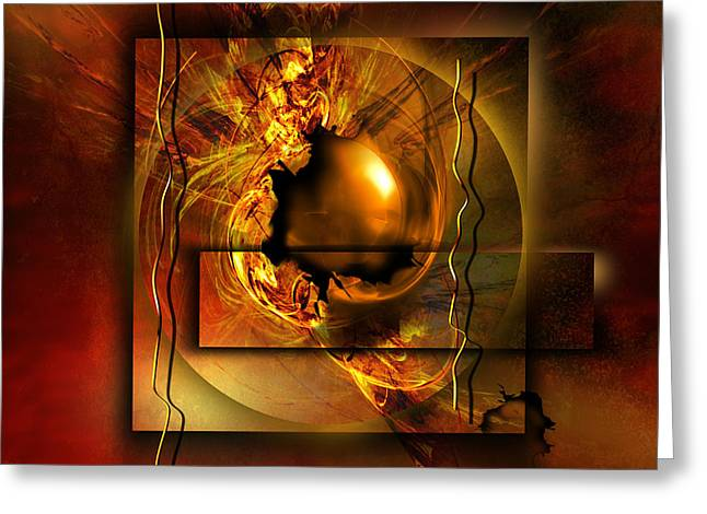 Golds Digital Art Greeting Cards - Angelos Greeting Card by Franziskus Pfleghart