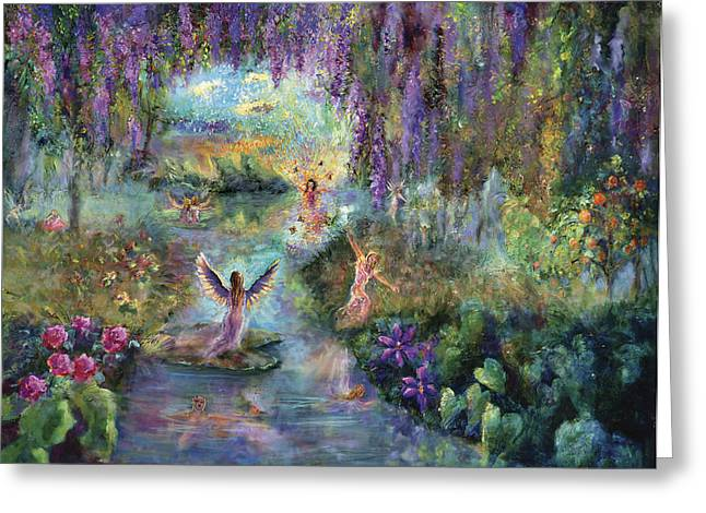 Personal-growth Greeting Cards - Angels and Fairies Greeting Card by Shari Silvey